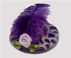 #LTT05 - Tiny Topper Dog Hat, Leopard Print - Perfect Purple