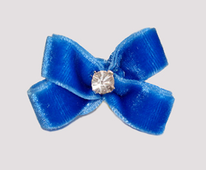 #PBTQ270 - Petite Boutique Dog Bow - Beautiful Blue Velvet