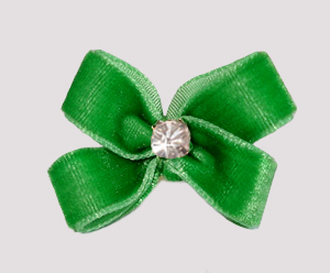 #PBTQ295 - Petite Boutique Dog Bow - Gorgeous Green Velvet