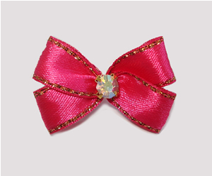 #PBTQ565 Petite Boutique Dog Bow Perfect Pink w/Gold