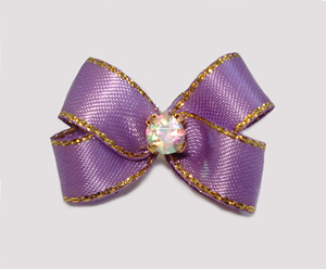 #PBTQ567 Petite Boutique Dog Bow Lovely Lavender w/Gold