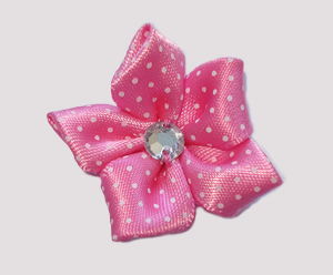 #PP110 - Pretty Petals Barrette - Satin Flower, Hot Pink