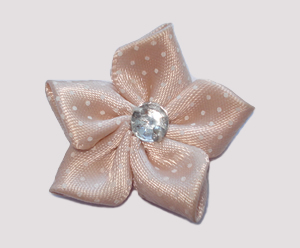 #PP150 - Pretty Petals Barrette - Satin Flower, Marvellous Mocha