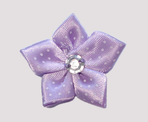 #PP180 - Pretty Petals Barrette - Satin Flower, Lovely Lavender