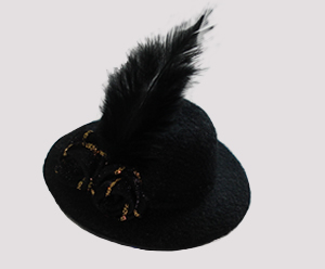 #RTT01 - Tiny Topper Hat Dog Hat - Midnight Black