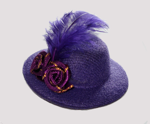 #RTT02 - Tiny Topper Hat - Pawsitively Purple