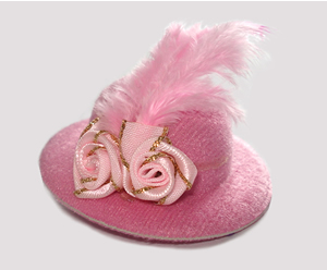 #RTT05 - Tiny Topper Dog Hat - Perfect Princess Pink