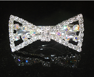 #S0530 - Dog Rhinestone Hair Barrette - Gorgeous Sparkling Bow