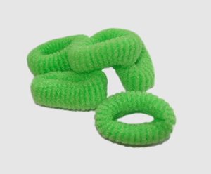 #SF0054 - Scrunchie Fun - Lime Green Pkg of 5