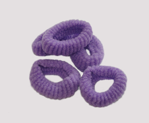#SF0057 - Scrunchie Fun - Grape Purple, Pkg of 5