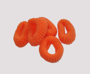 #SF0058 - Scrunchie Fun - Orange, Pkg of 5
