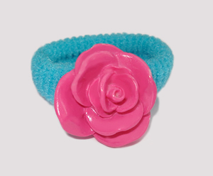 #SF0190 - Scrunchie Fun - Blue Band, Hot Pink Rose