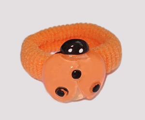 #SF0480 - Scrunchie Fun - Orange Band, Orange Ladybug