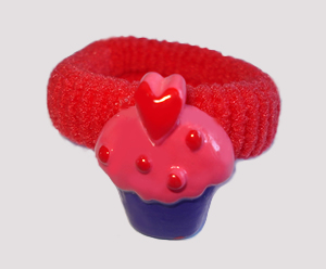 #SF0484 - Scrunchie Fun - My Little Cupcake, Red Band