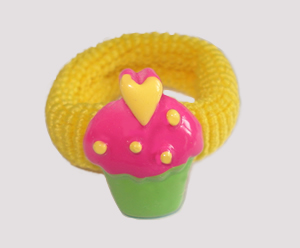 #SF0486 - Scrunchie Fun - My Little Cupcake, Yellow Band