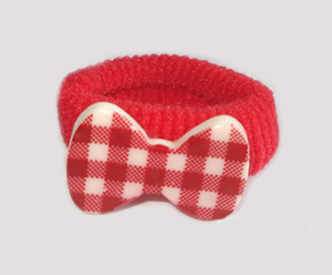 #SF0520 - Scrunchie Fun - Delightful Red & White, Plaid Bow