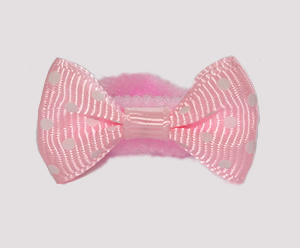 #SFSD59 - Scrunchie Fun - Soft Pink with White Dots