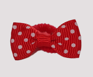 #SFSD62 - Scrunchie Fun - Classic Red with White Dots