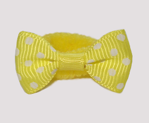 #SFSD63 - Scrunchie Fun - Sunny Yellow with White Dots