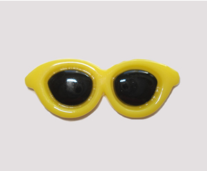 #SG055 - Dog Hair Clip - Sizzlin' Summer Sunglasses - Yellow