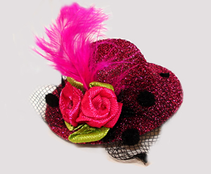 #STD04 - Tiny Topper Dog Hat, Diva Sparkle - Fabulous Fuchsia