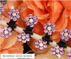 #SW400 - Dog Mini Clip - Sparkly Claw Clip Lavender Flower