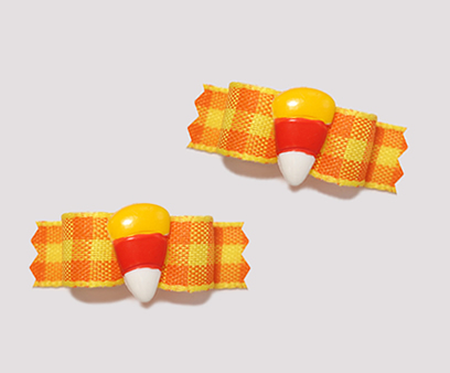 "#T9031 - 3/8"" Dog Bow - Sweet Little Candy Corn"