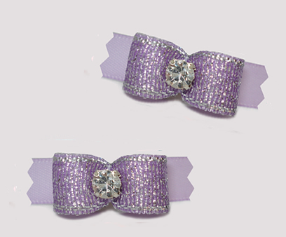 "#T9374 - 3/8"" Dog Bow - Shimmer & Shine, Lovely Lavender"