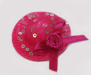 #ATT050 - Tiny Topper Dog Hat - Show-Stopping Hot Pink