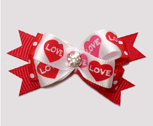 #BTQM962 - Mini Boutique Bow Sweet Love Hearts w/Rhinestone