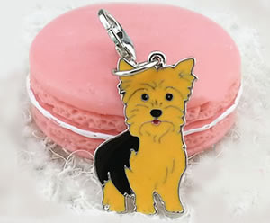 YC01- Sweet Little Yorkie Keychain/Bag Clip or Collar Charm