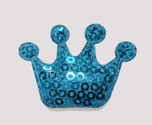#BAR01072 - Dog Clip - Royal Crown, Sparkly Blue Sequin