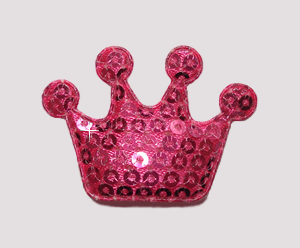 #BAR01077 - Dog Clip - Royal Crown, Sparkly Pink Sequin