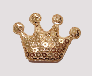 #BAR01080 - Dog Clip - Royal Crown, Sparkly Gold Sequin