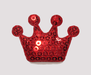 #BAR01071 - Dog Clip - Royal Crown, Sparkly Red Sequin
