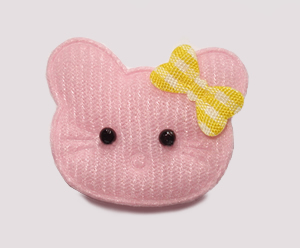 #090 - Kitty Klip - Baby Pink with Yellow Bow