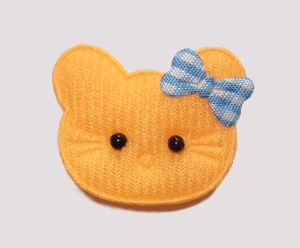 #020 - Kitty Klip - Orange Kitty with Blue Bow