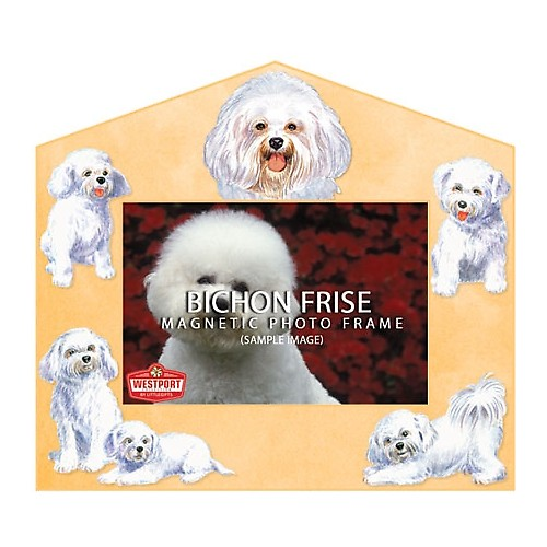 Magnetic Photo Frame - Bichon Frise