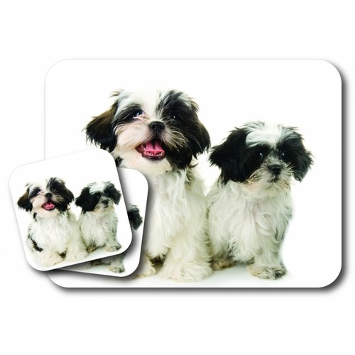 Mousepad and Coaster Set, Shih Tzu
