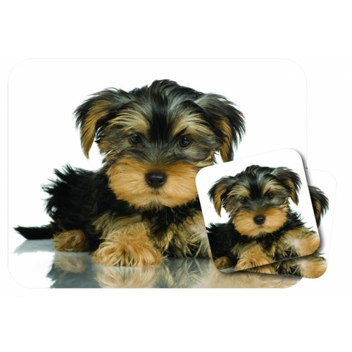 Mousepad and Coaster Set, Yorkshire Terrier